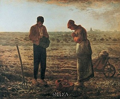 The Angelus painted by Jean-Francois Millet