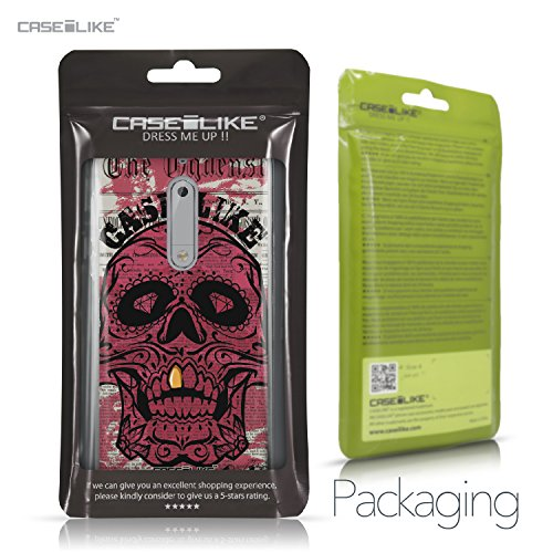 CASEiLIKE Funda Nokia 5 , Carcasa Nokia 5, Graffiti 2703, TPU Gel silicone protectora cover Arte del cráneo 2523