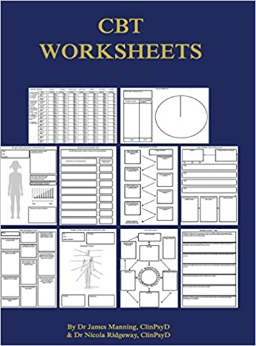 Amazon Cbt Worksheets Cbt Worksheets For Cbt Therapists In