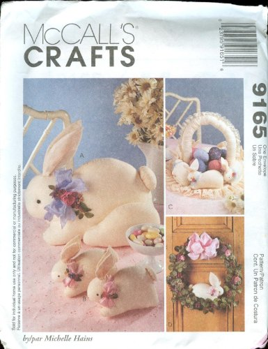 McCall's Crafts Pattern 9165 Bunny - Pattern Basket Easter
