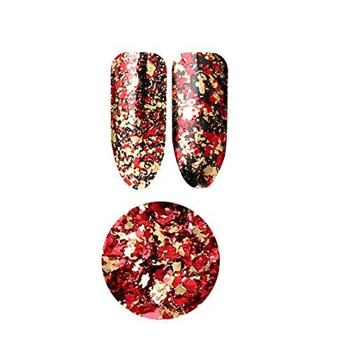 Chameleon Glitter Sequins Paillette Flakes Nail Art DIY Decoration Manicure Acc (Color - Double color foil 10# Red gold)
