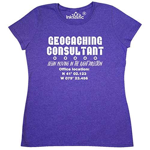 4220 Gps - inktastic Geocaching Consultant White Women's T-Shirt Large Retro Heather Purple