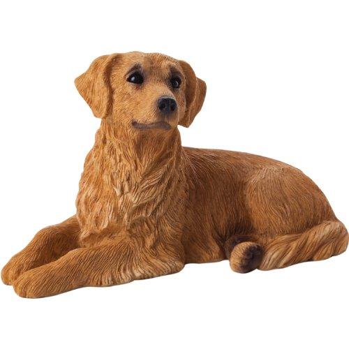 Sandicast Small Size Golden Retriever Sculpture, (Golden Retriever Dog Figurine)
