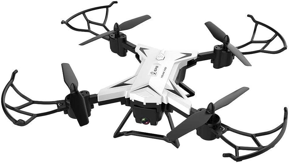 Yiran RC Drone KY601G Pliable avec Cam/éra WiFi HD F-PV Pliable RC Quadcopter 4 canaux Lumi/ère LED Altitude Tenir Pliable F-PV Drones Easy Fly 1 battery Noir