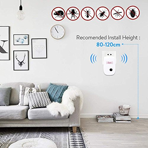 POP VIEW Pest Control Ultrasonic Pest Repeller, Non-Toxic, Humans & Pets Safe, Electronic Plug in Repellent Indoor Insects, Mosquitoes, Mice, Spiders, Ants, Rats, Roaches