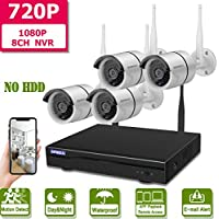 Wireless 8-Channel 1080P Security Camera System with 4pcs...