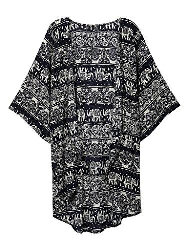 Persun Floral Chiffon Kimono Jackets