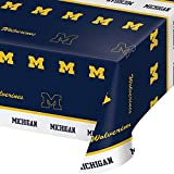 """Limited Time Offer on Creative Converting Michigan Wolverines Plastic Table Cover, 54""""x108""""."""