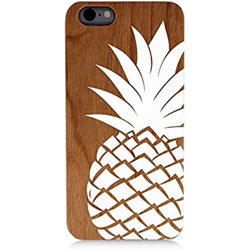 Pineapple White Fancy Dope Uv Print Cherry Wood Natural Wooden Case Samsung Galaxy s7 Sales
