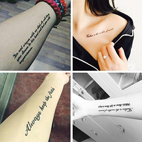 TAFLY Sexy tatuaje falso brazo muñeca para hombres y mujeres y ...