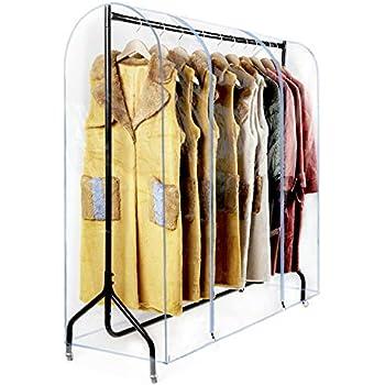 Amazon.com: Cubierta transparente para estante de ropa de 71 ...