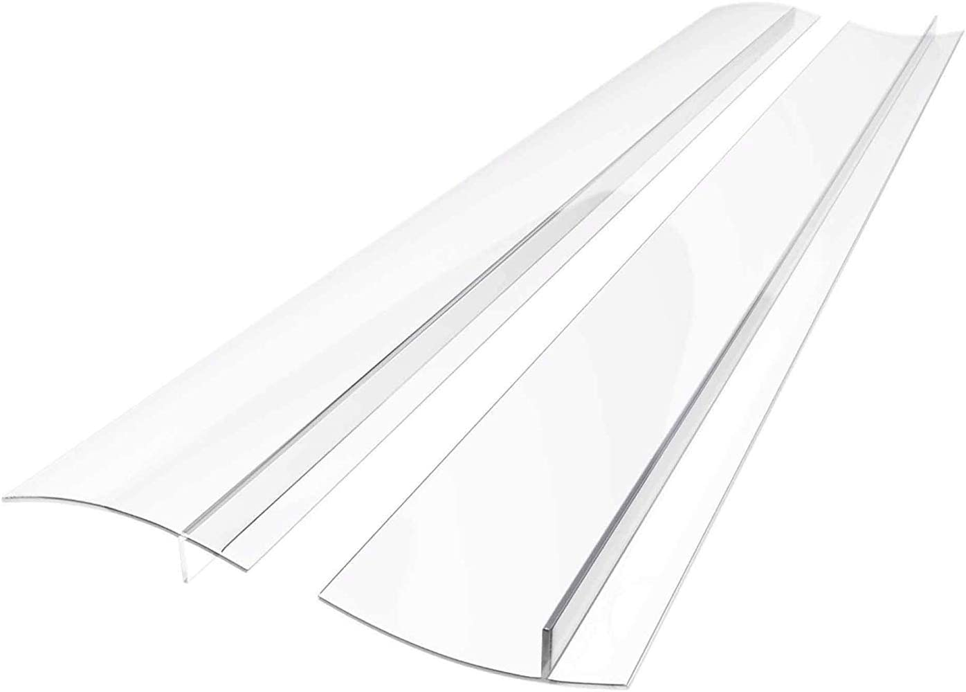 Linda's Silicone Kitchen Stove Counter Gap Cover Long & Wide Gap Filler (2 Pack) Seals Spills Between Counters, Stovetops, Oven, Washer, Dryer | Heat-Resistant and Easy Clean (21 Inches, Ultra Clear)