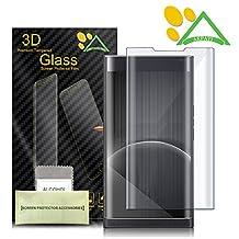 BlackBerry Priv Screen Protector, Akpati 3D Full Coverage Tempered Glass Screen Protector for BlackBerry Priv HD Clear Anti-Bubble Film - Transparent