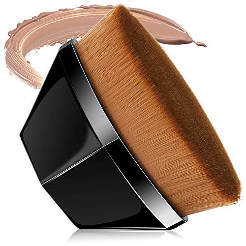 Faraone4w Foundation-Pinsel, flüssig, Make-up-Pinsel mit synthetischen dichten Borsten, professioneller Make-up-Pinsel für cremefarbene, flüssige Puderkosmetik