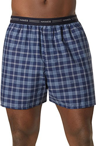 Hanes Men's Yarn Dyed Plaid Boxers 5-Pack_Assorted Plaids_X-Large
