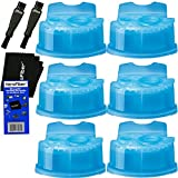 #8: Braun Clean & Renew Refill Cartridges, Replacement Cleaner, Cleaning Solution (6 pack) for Series 3, Series 5, Series 7 & Series 9 + Double Ended Shaver Brush + HeroFiber Ultra Gentle Cleaning Cloth