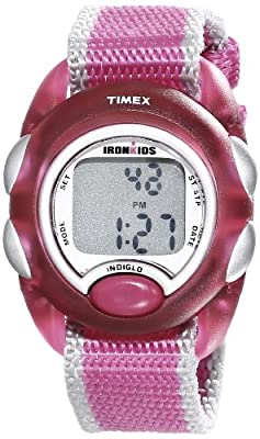 Timex Kids' T7B9809J IronKids Translucent Pink Resin Strap Watch by Timex