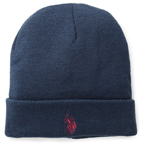 U.S. Polo Assn. Men's Solid Cuff Beanie, Navy, One Size