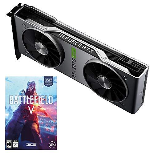NVIDIA GeForce RTX 2070 Super Founders Edition - حافظه 8 گیگابایتی GDDR6 1770 مگاهرتز - 2560 هسته - ردیابی ری - DP / HDMI / DVI-DL - VR آماده با Battlefield V رایگان کد