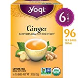 Yogi Tea - Ginger - Supports Healthy Digestion - 6 Pack, 96 Tea Bags Total