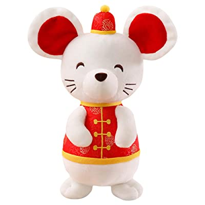 HongHong Toddler Toys 2020 Mouse Year Mascot Rat Plush Soft Doll Plush Stuffed Doll Stuffed Animal Plush Gift Sofa Decor 35cm: Home & Kitchen