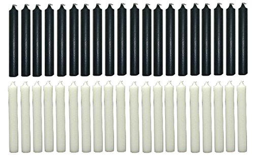 Clarity & Muse Set of 40 chime candles (20 Black, 20 White)