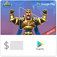 Google Play gift code - Email Delivery. Get an in-game bonus in Lords Mobile valued up to $96 with purchase (U