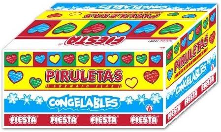 Fiesta Piruleta Flax Cereza Polo para Congelar 70 ml [Pack 10 ud ...