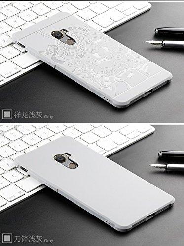 SMTR Xiaomi Mi Mix 2 Funda Silicona, Xiaomi Mi Mix 2 Funda Gel Suave TPU Case - Carcasa Resistente a los Arañazos para Xiaomi Mi Mix 2 -dragón Negro gris