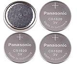 4-Pcs - Panasonic CR1620 (Prepackaging) 3v Lithium Coin Cell Battery