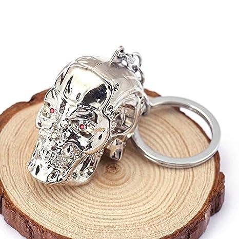 Amazon.com: Llavero con diseño de calavera en 3D, con forma ...