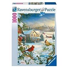 Winter Cardinals Jigsaw Puzzle, 1000-Piece