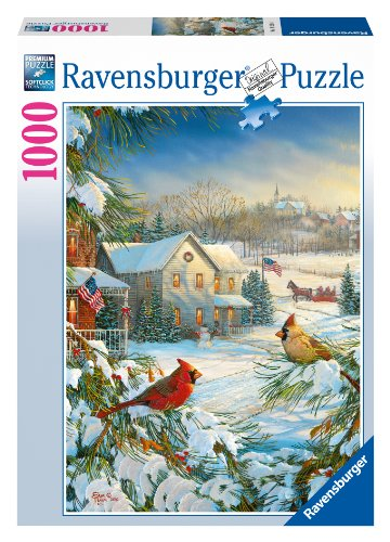 Ravensburger Winter Cardinals 1000 Piece Jigsaw Puzzle for Adults – Every Piece is Unique, Softclick Technology Means Pieces Fit Together Perfectly