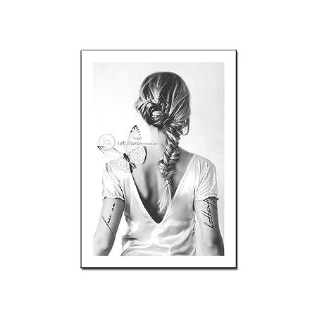jzxjzx Personajes de fotografía Simple en Blanco y Negro Chica ...