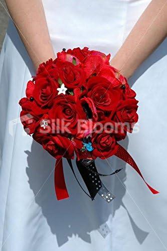 Amazon Com Stunning Red Rose Rockabilly Designer Bridal Wedding