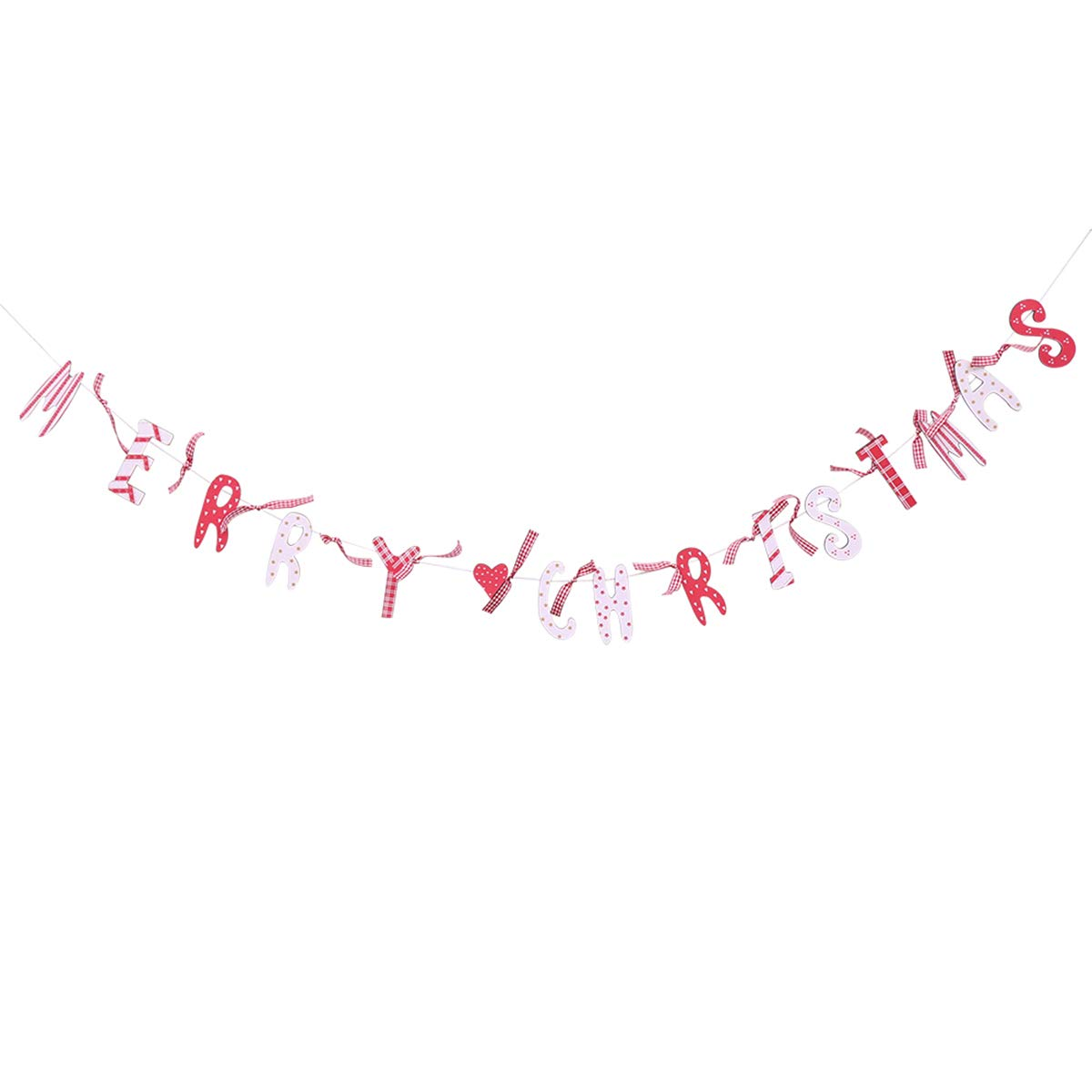 Christmas Decor Hanging MERRY CHRISTMAS Cardboard Banner Flags for Christmas Party