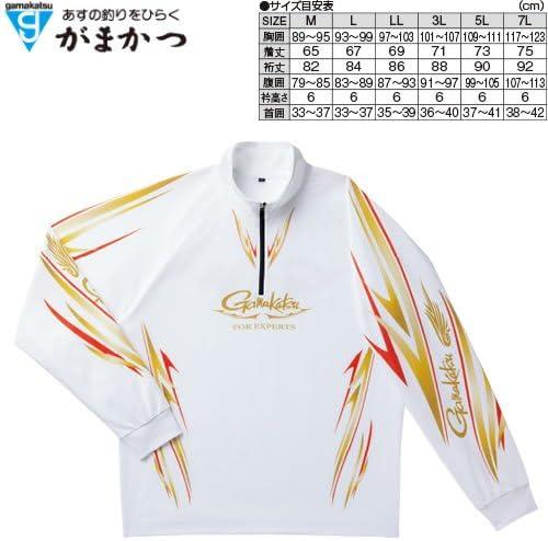 がまかつ(Gamakatsu) シャツ 2WAY プリントジップ L ホワイト GM-3474