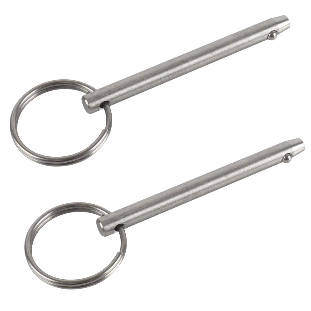 Effective Length 1.57 2 Pack Quick Release Pin Total Length 2 40mm Diameter 1//4 Bimini Top Pin Marine Hardware Diameter 1//4 51mm 6.3mm Full 316 Stainless Steel 40mm VTurboWay Effective Length 1.57 6.3mm Total Length 2 51mm