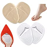 2 Pairs Gel Forefoot Shoe Insole Metatarsal Pads Ball of Foot Cushions Pain Relief Relieve Forefoot Pain