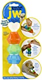 Image of JW Pet Company 46137 EverTuff Treat Pod Nylon Toys for Pets, Small, White Bone with Colored Pods of Orange, Green, Blue