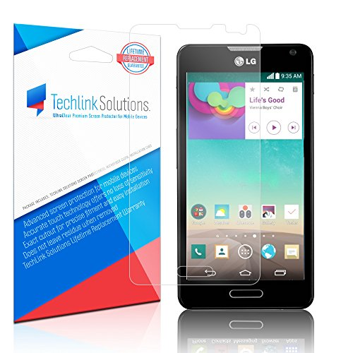 TechLink Solutions UltraClear (6-Pack) - LG Optimus F6 D500 Screen Protector / Premium HD Crystal Clear Shield /Anti-Bubble & Anti-Fingerprint PET Film with Lifetime Warranty