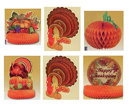 6-Pack Decorative Thanksgiving Centerpiece