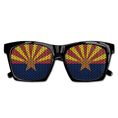 Elephant AN Themed Novelty Anonymous Arizona State Flag Creative Visual Mesh Sunglasses Fun Props Party Favors Gift - Wholesale Sunglasses Unique