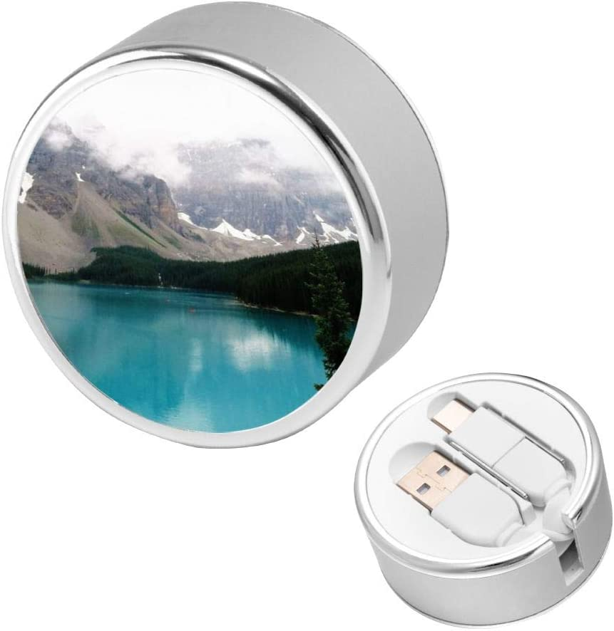 Can Be Charged and Data Transmission Synchronous Fast Charging Cable-Photo of Body of Water Between Trees and Mountain Charging Cable Round USB Data Cable