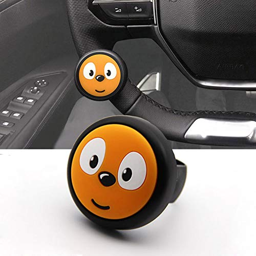 Cxtiy Steering Wheel Spinner Knob,Car Booster Suicide Spinner Knob Mini Power Handle for All Vehicle Auto SUV Truck Vans (Orange)