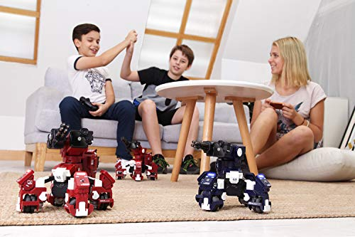 GJS Robot - GEIO App-Enabled Augmented Reality Gaming Robot with High Speed Motion System, Multi-Player Battle Mode and STEM Coding Interface, Red by GJS Robot (Image #7)