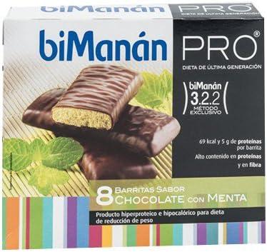 BIOMANAN PRO Barritas chocolate con menta (8 uds ...