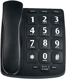 HePesTer P-02 Amplified Large Button Corded Phone for Senior