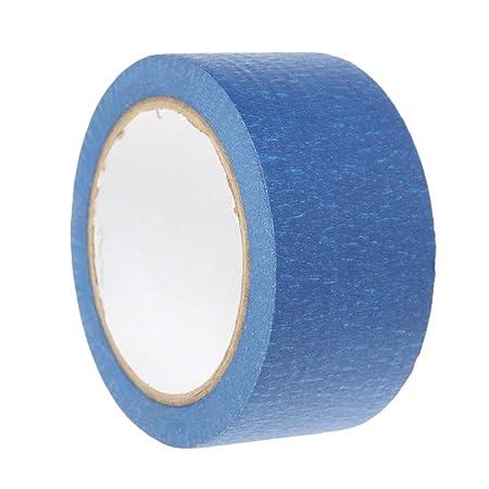 JUNESUN La Cinta Adhesiva de Papel de Alta Temperatura Azul 50mm ...