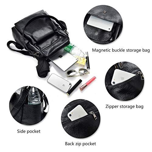 Leparvi Satchel Backpack Purse Pu Capacity Tote brown Handbag Large Leather Girl Cute Style2 ZZ5qvx1r